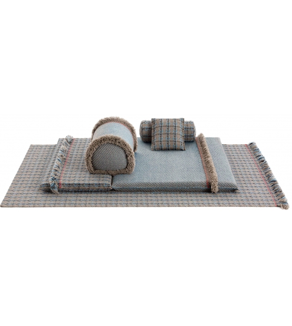 Gan Garden Layers Checks Rectangular Rug