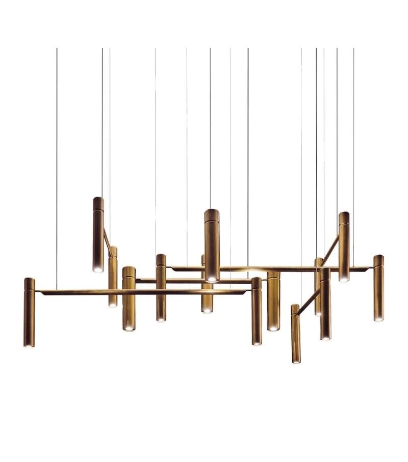 Tubular Horizontal Henge Ceiling Lamp