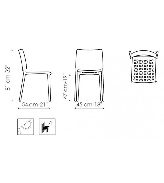 Ex Display - Blues Bonaldo Chair