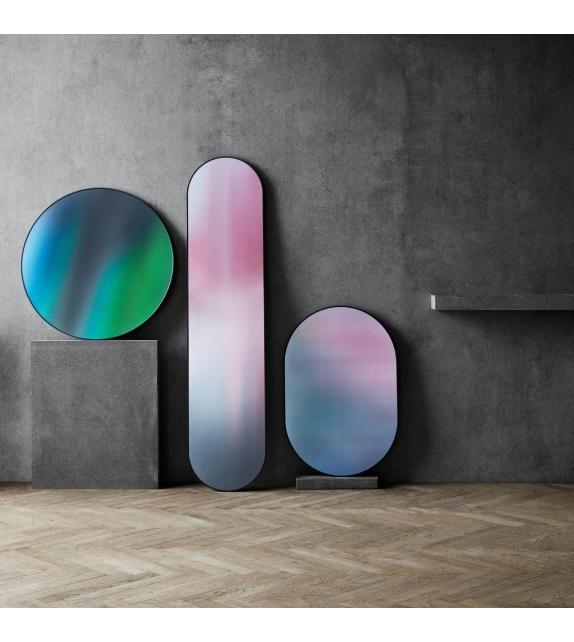 Mirror Oval Studio Roso Fritz Hansen Miroir