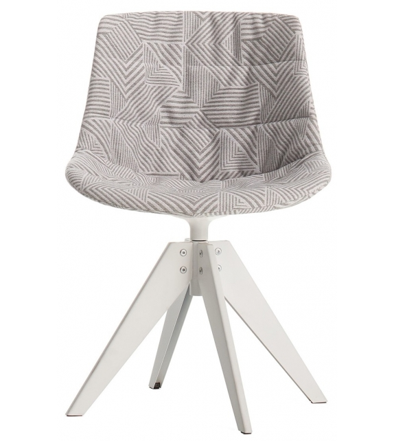 Flow Textile MDF Italia Chair With 4 Legs VN