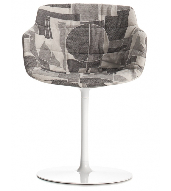 MDF Italia Flow Textile Chair With Central Leg