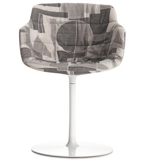 Flow Textile MDF Italia Chaise avec Pied Central
