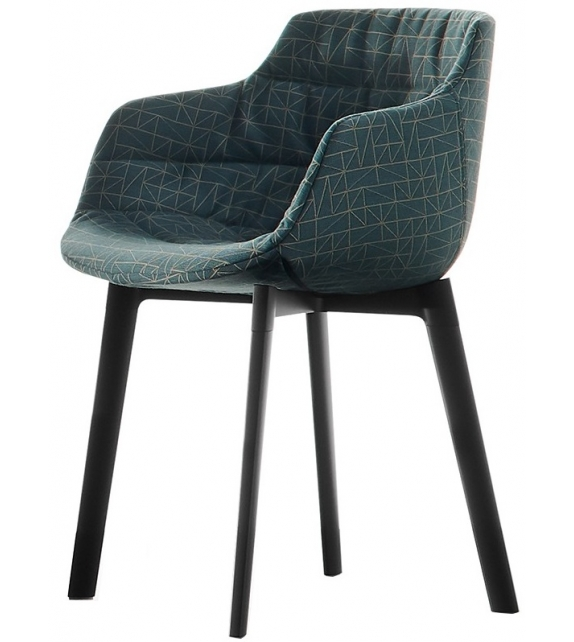 MDF Italia Flow Textile Chair With Cross Legs