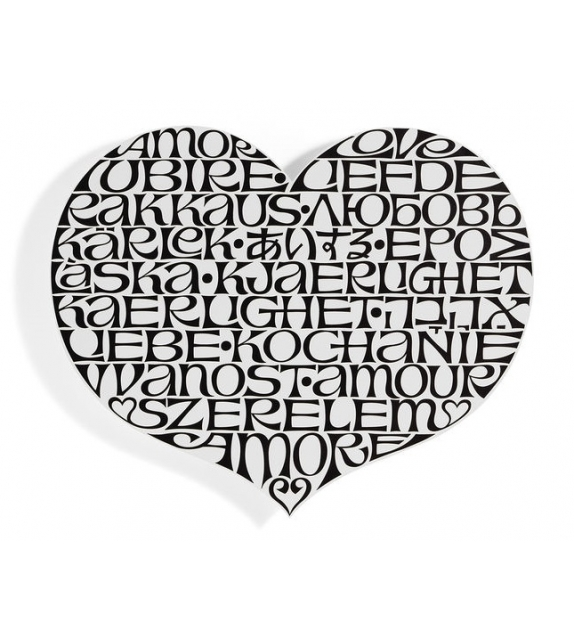 Metal Wall Relief International Love Heart Vitra Decorazione