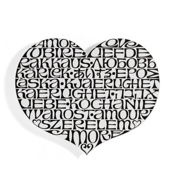 Metal Wall Relief International Love Heart Vitra Dekoration