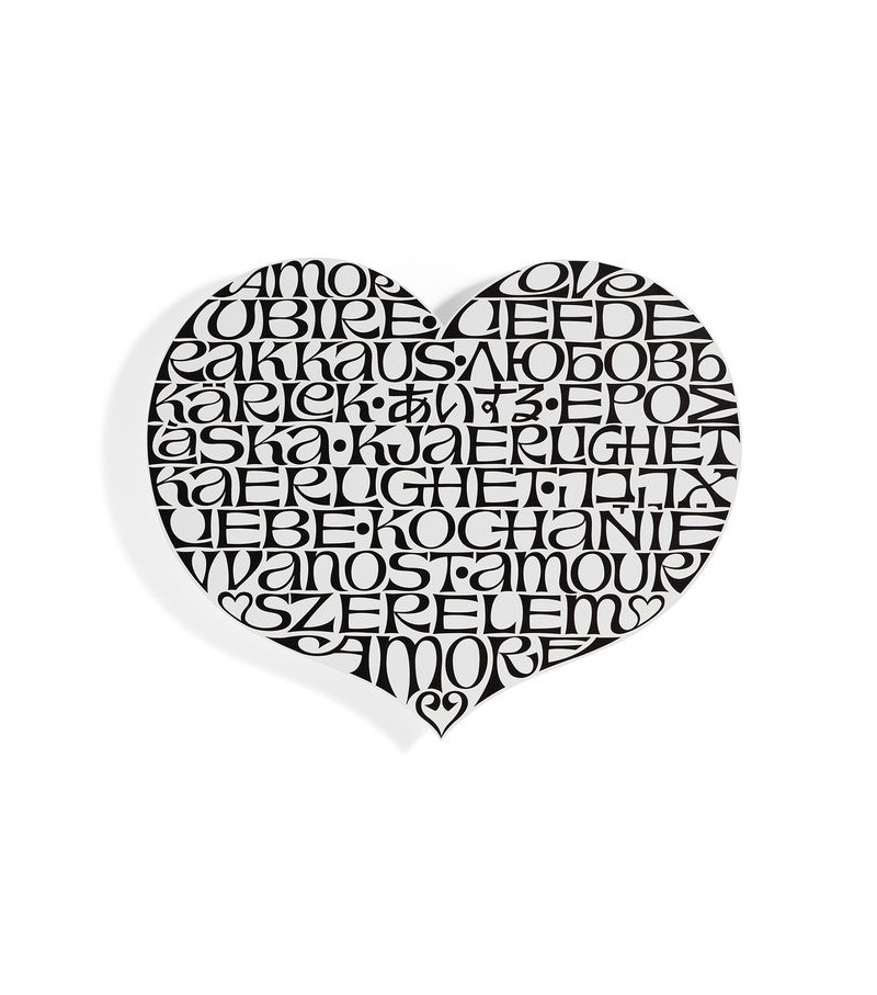 Metal Wall Relief International Love Heart Vitra Decoration