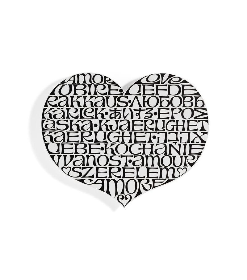 Metal Wall Relief International Love Heart Vitra Decorazione