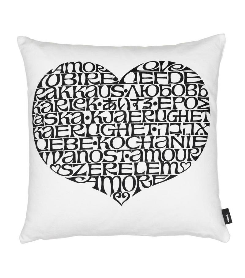 Graphic Print Pillows International Love Heart Vitra Kissen