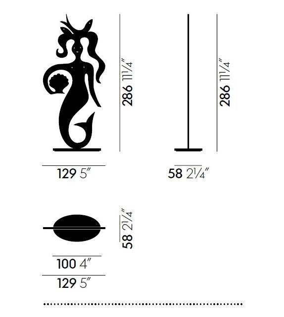 Silhouette Mermaid Sculpture Vitra