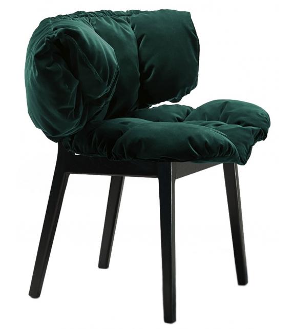 Edra Blue Velvet Armchair