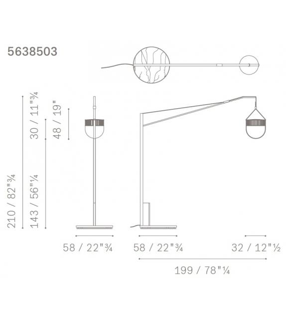 Xi Poltrona Frau Floor Lamp