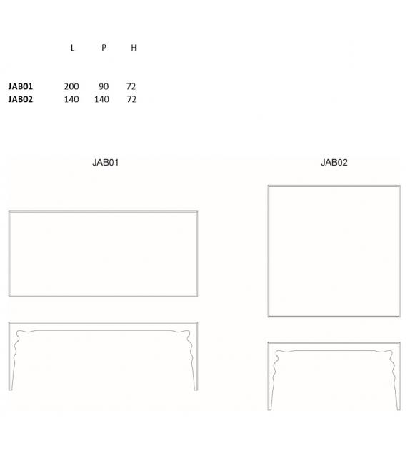 Jabot Glas Italia Table