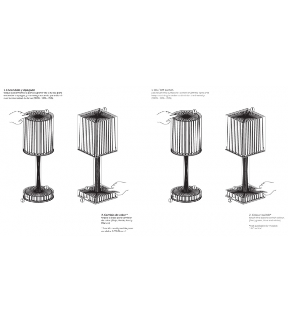 Gatsby Prisma Vondom Table Lamp