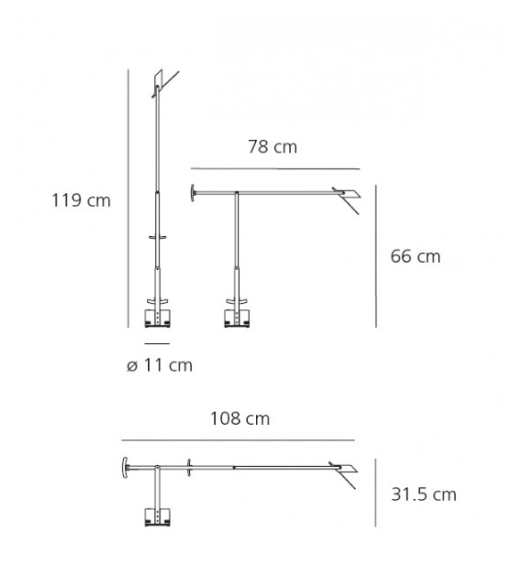 Versandfertig - Tizio LED Artemide Tischleuchte