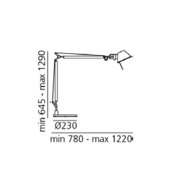 Versandfertig - Tolomeo LED Artemide Tischleuchte