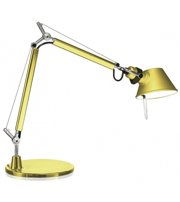 Ready for shipping - Artemide Tolomeo Micro Gold Table Lamp
