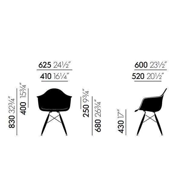 Pronta Consegna - Eames Plastic Armchair DAW Vitra Sedia