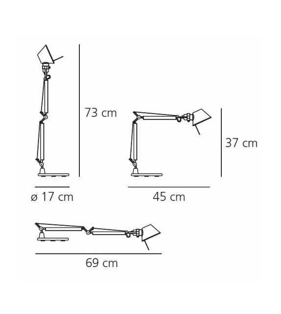 Pronta consegna - Tolomeo Micro Artemide Lampada Da Tavolo con Base