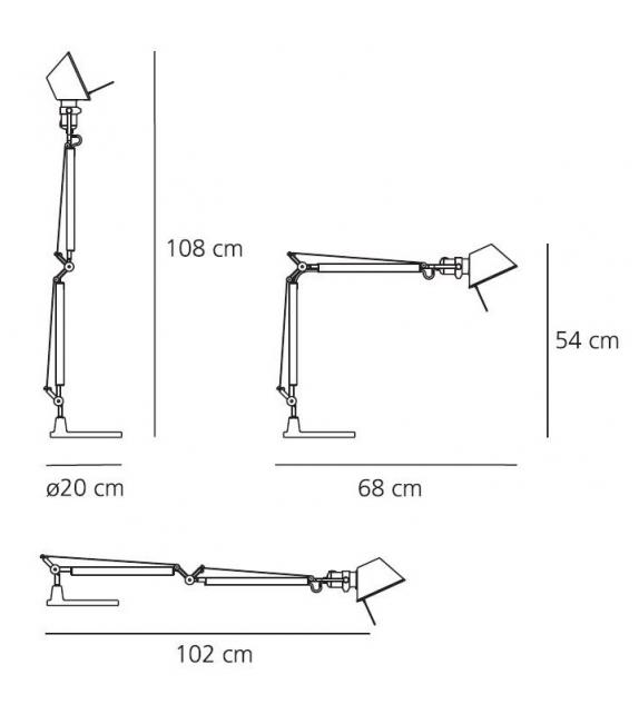 Versandfertig - Tolomeo Mini LED Artemide Tischleuchte