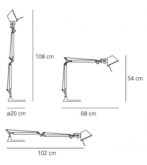 Versandfertig - Tolomeo Mini Halo Artemide Tischleuchte