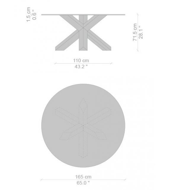 Versandfertig - 452 La Rotonda Cassina Tisch
