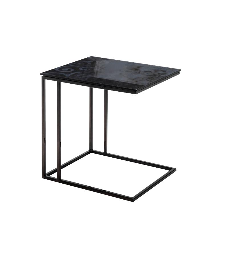 Metrico Small Nicoline Coffee Table Milia - Small Black Metal Rectangle Side Table