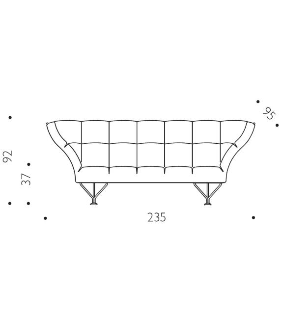 Ready for shipping - 33 Cuscini Driade Sofa