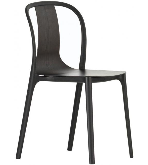 Versandfertig - Belleville Armchair Wood Vitra Sessel