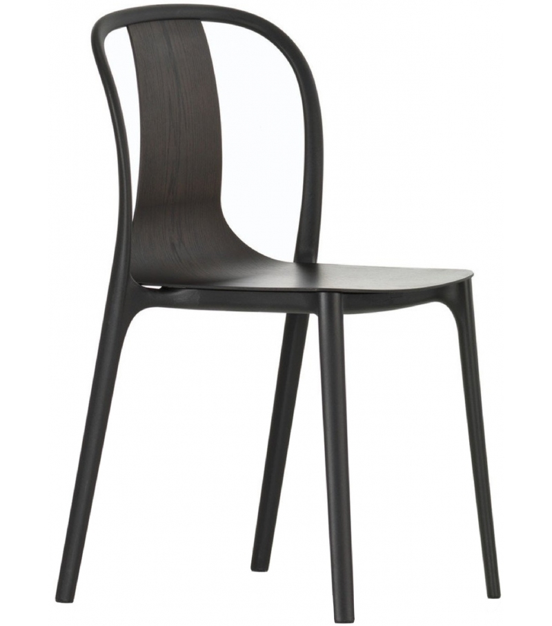 Ready for shipping - Belleville Armchair Wood Vitra