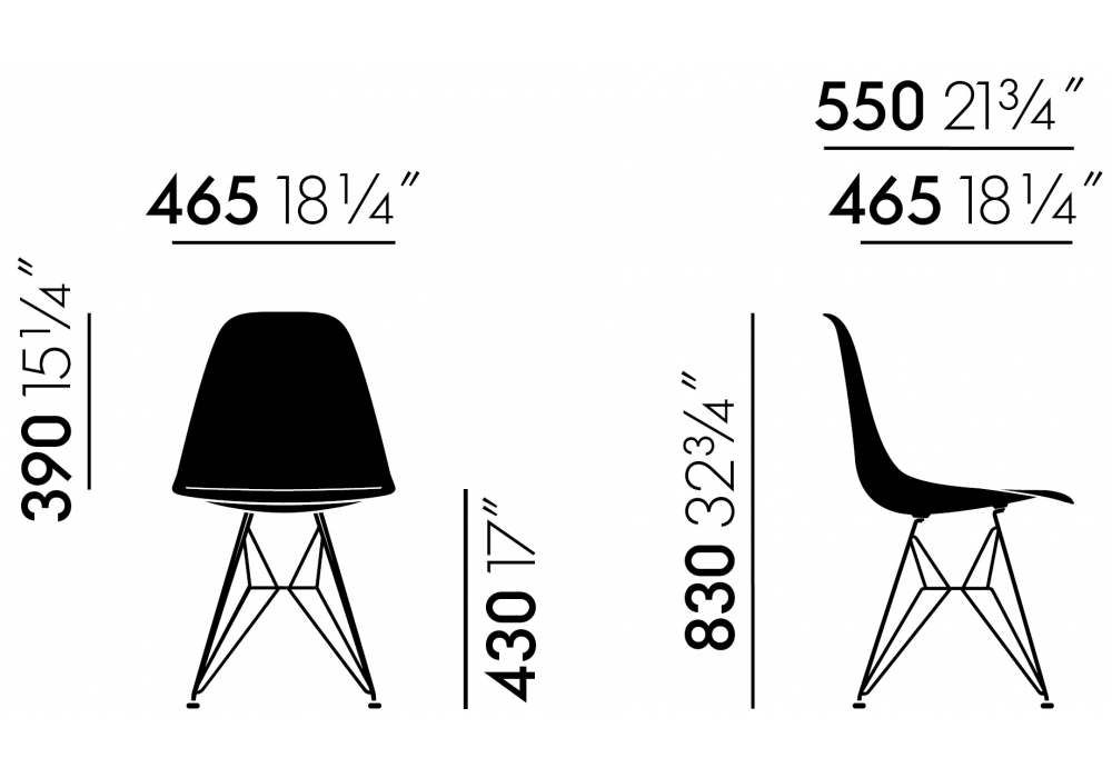 Pronta consegna - Eames Fiberglass Chair DSR Vitra Sedia ...