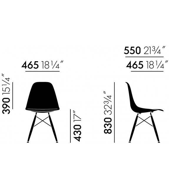 Listo para entregar - Eames Fiberglass Chair DSW Vitra Silla