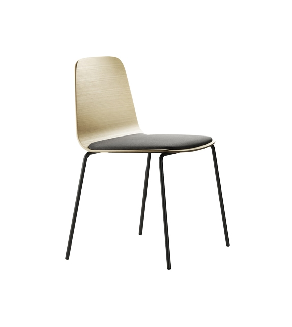 Treku Bisell Chair with Seat Upholstered with Conic Base