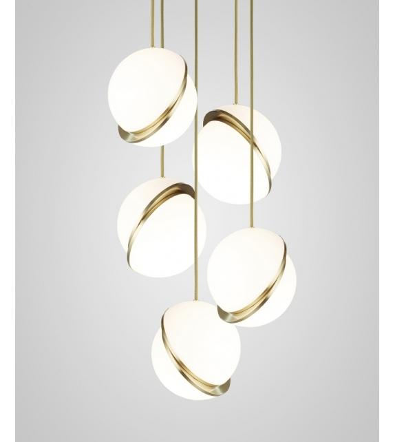 Lee Broom Mini Crescent Chandelier 5 Tier Pendant Lamp