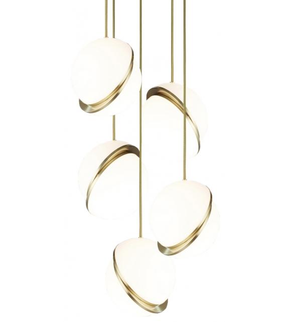 Mini Crescent Chandelier 5 Tier Lee Broom Lámpara de Suspensión
