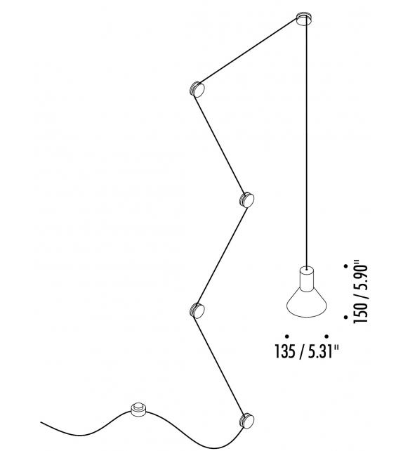 Neuro Davide Groppi Suspension Lamp - US Version