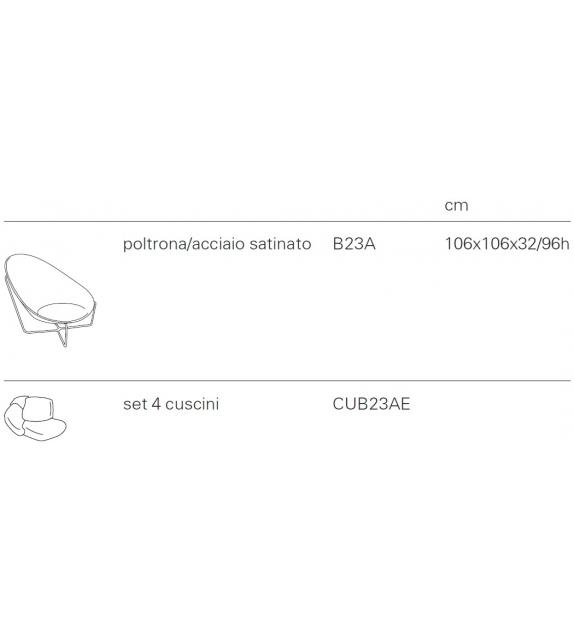 Ready for shipping - Paola Lenti Nido Armchair