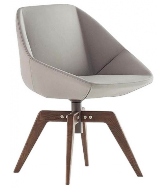 Stone Bonaldo Stuhl mit Holzbeinen