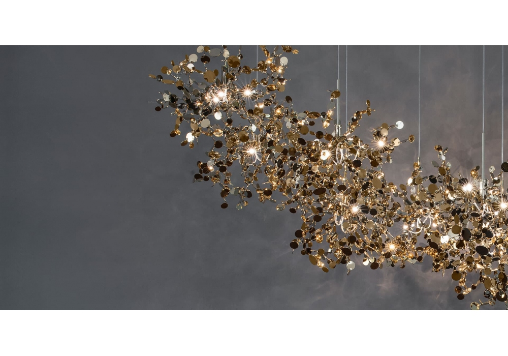 Argent Terzani Suspension Lamp Milia