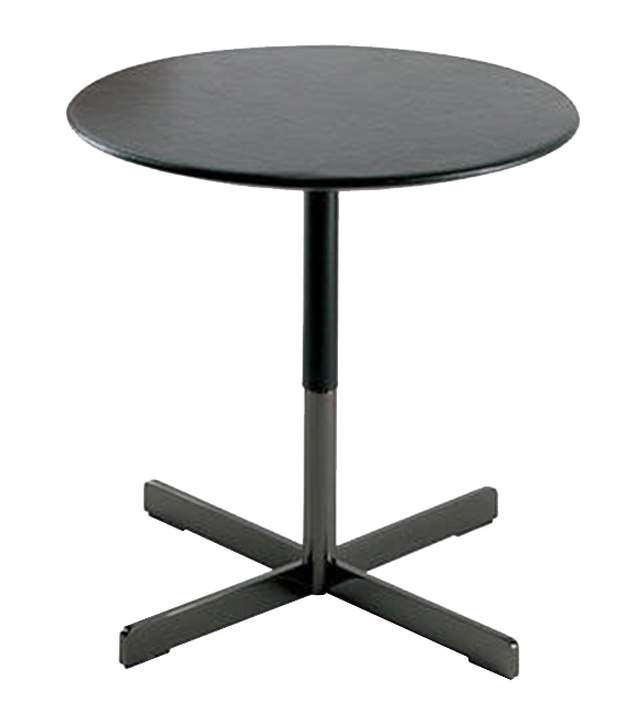 Ready for shipping - Occasional Table with Leather Top Bob Poltrona Frau