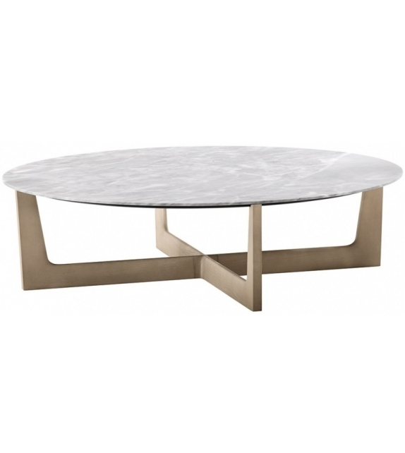 Ready for shipping - Ilary Round Low Table Poltrona Frau