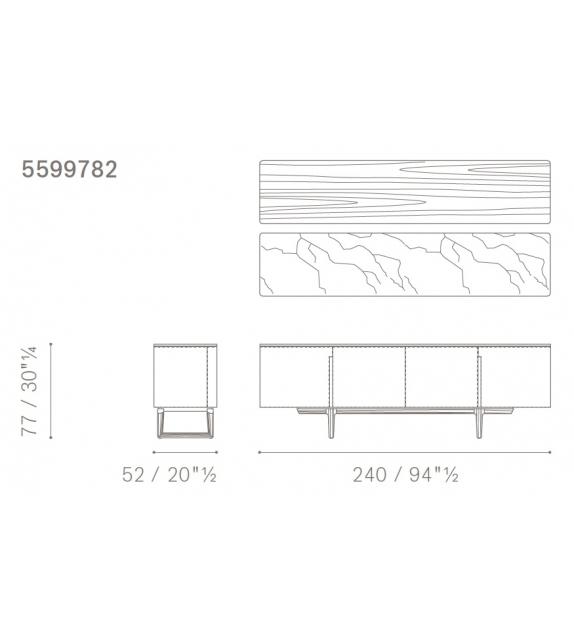 Ready for shipping - Fidelio Poltrona Frau Sideboard