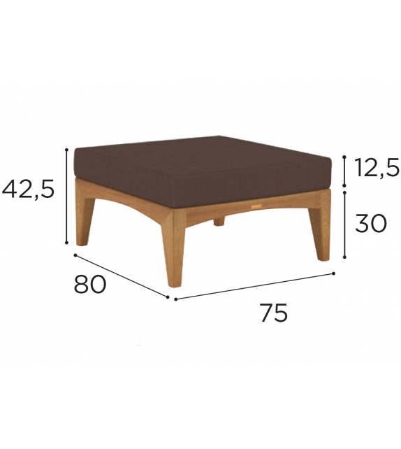 Zenit Lounge Royal Botania Footstool