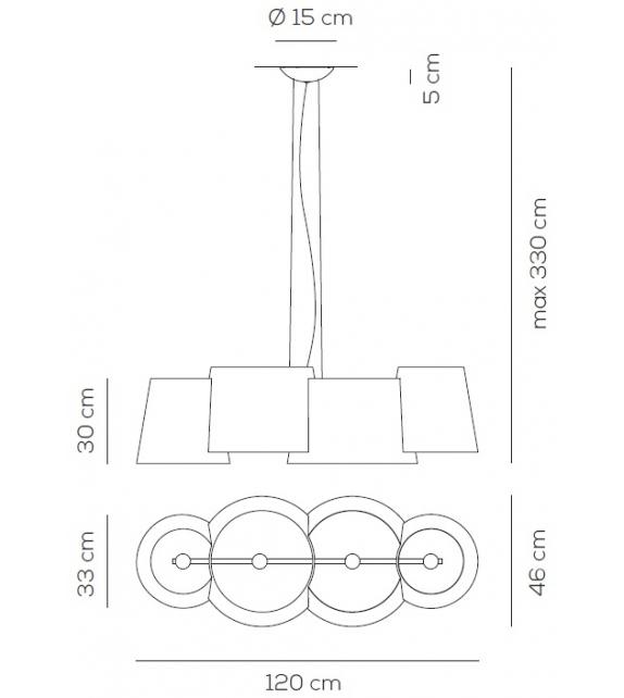 Listo para entregar - Melting Pot Axo Light Lámpara de Suspensión