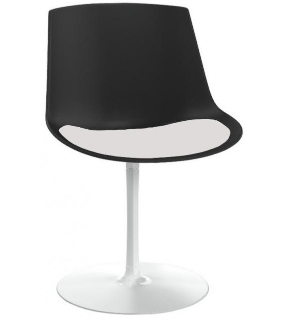 Listo para entregar - Flow Chair Fumè MDF Italia Silla con Pata Central