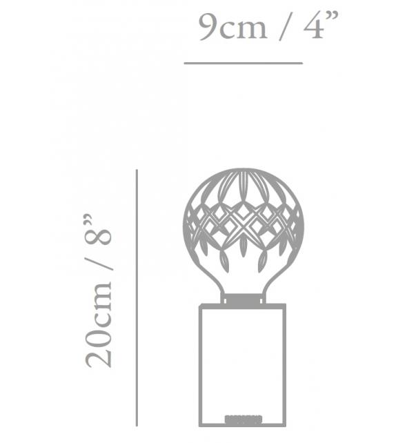 Prêt pour l'expédition - Crystal Bulb Lee Broom Lampe de Table
