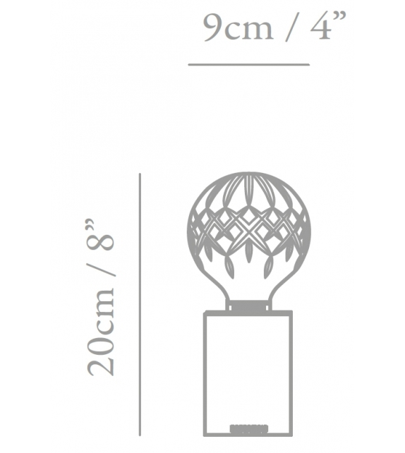 Pronta consegna - Crystal Bulb Lee Broom Lampada da Tavolo