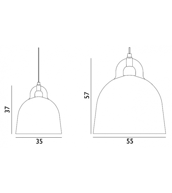 Listo para entregar - Bell Normann Copenhagen Lámpara de Suspension
