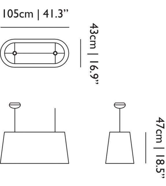 Oval Light Moooi Lámpara de Suspensión