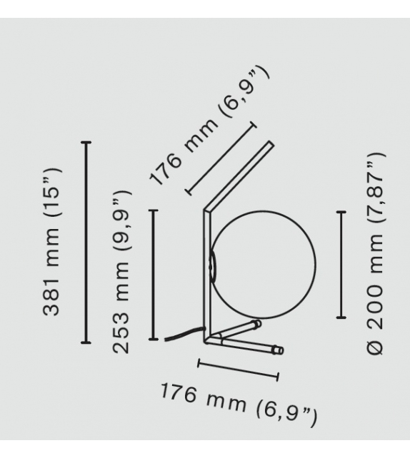Listo para entregar - IC T1 Low Flos Lámpara de Mesa